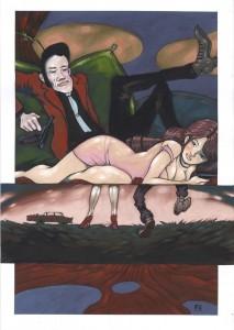 Emi et son mari à la façon de Lupin the 3rd