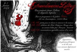 """Flyer dédicace """"Extraordinaires Lolitas"""""""