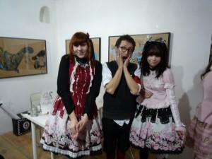 François entouré de Hatsumi et de Mitsuki