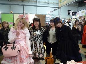 Groupe de lolitas à Chibi Japan Expo Sud