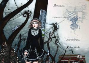 Scène 12 d'un projet de livre abandonné, avec Yumeko pour héroïne