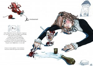 Scène 14 d'un projet de livre abandonné, avec Yumeko pour héroïne