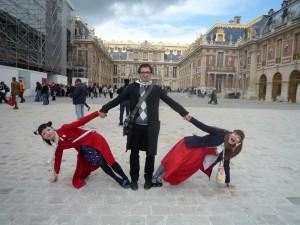 Ogi avec les Kokusyoku Sumire à Versailles