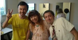 Masaharu, Miaki et François