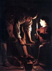 Saint Joseph charpentier par Georges de La Tour