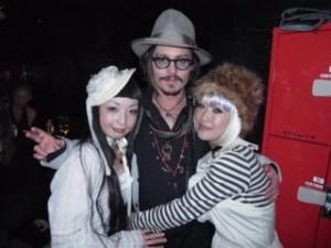 Johnny Depp et les Kokusyoku Sumire
