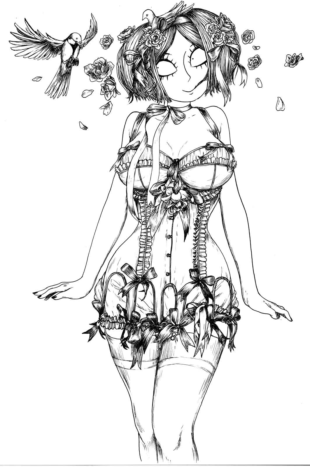Fraise en corset (1/2)